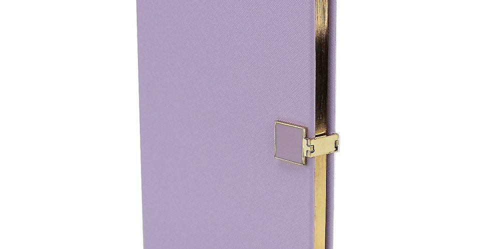Lilac a5 notebook with gold edging to pages