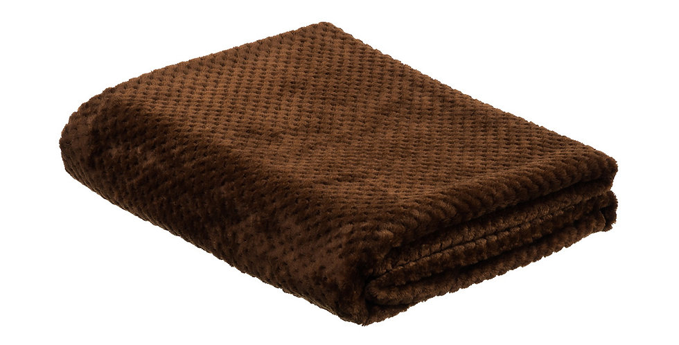 Pecan brown coloured super soft blanket