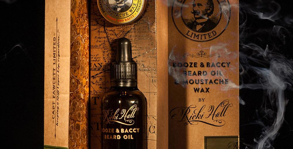 A delectable bespoke Beard Oil and Moustache Wax.