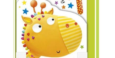 1st birthday card with cute giraffe