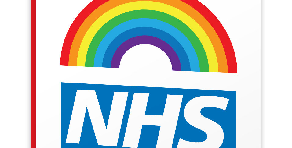 Multicoloured lockdown card with rainbow and wording you're my nhs hero