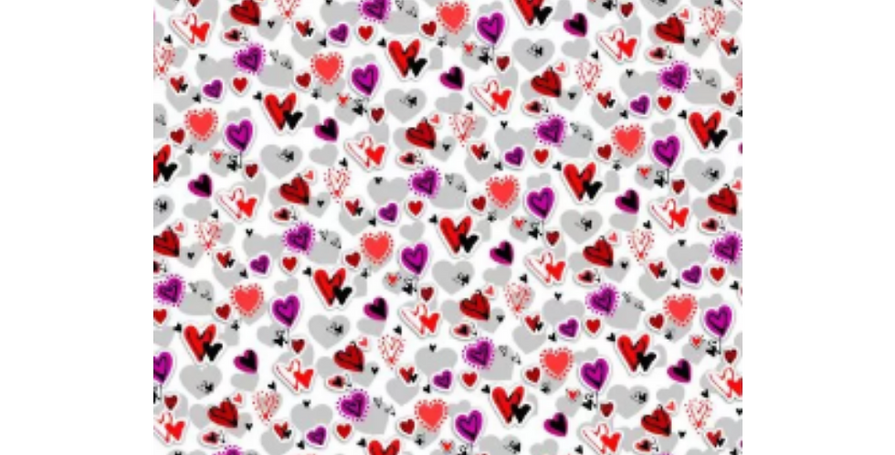 valentine's day heart wrapping paper