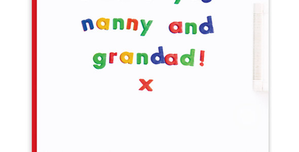 I miss you nanny and grandad lockdown card