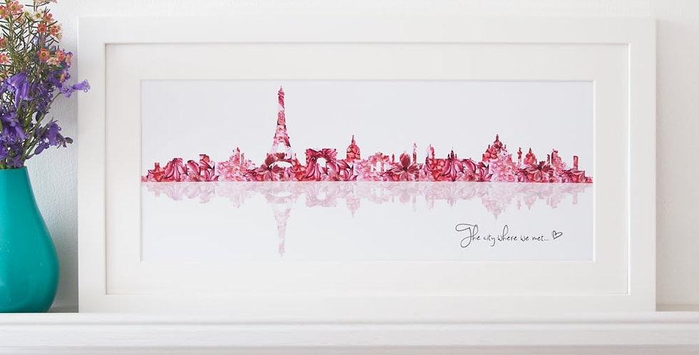 personalised skyline print