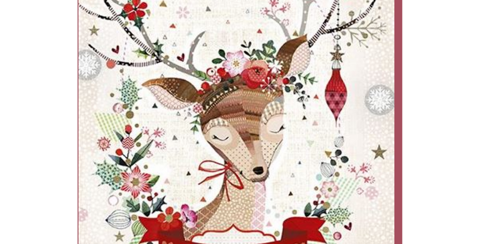 daughter christmas card with cute cartoon reindeer and words to a very special daughter with love merry christmas