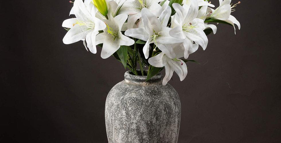 faux white lily stem