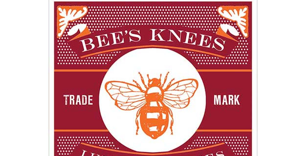 Bees Knees luxury matches - burgundy box and bee emblem to front matches 11cm long