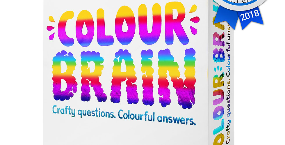 Colourbrain is crafty game where the questions are answered by coloured cards