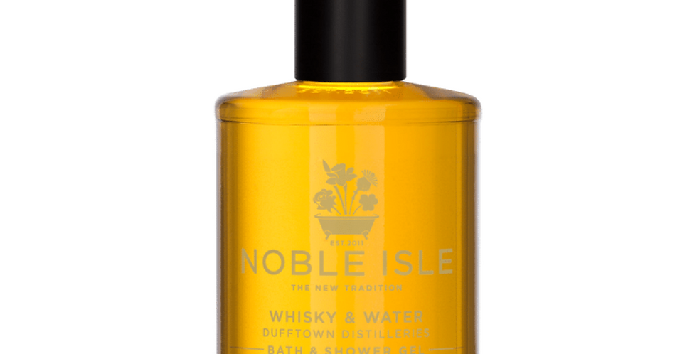 Whisky & Water Luxury Bath & Shower Gel is aromatic, woody and spicy with scent of whisky
