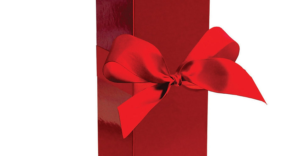 Premium gift bottle box with gorgeous red bow