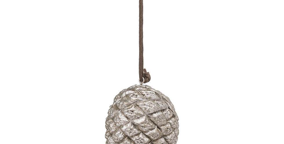 silver pinecone bauble