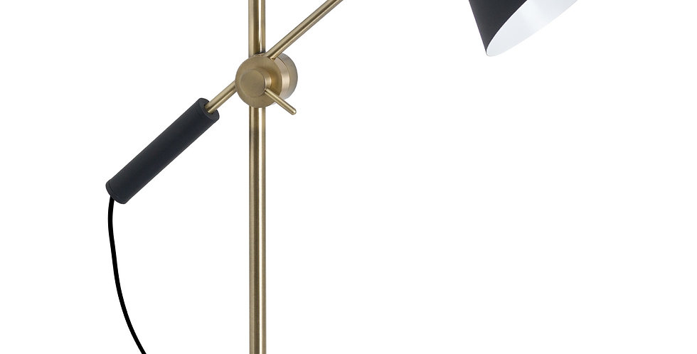 angelpoise adjustable lamp with black cone shade