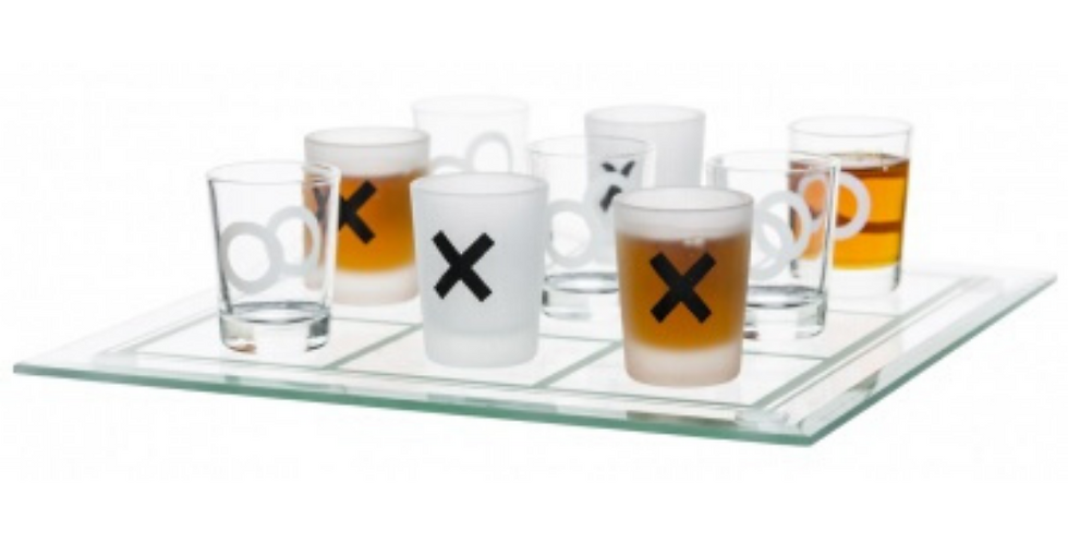 Adult Drinking Game Noughts & Crosses Shots Game