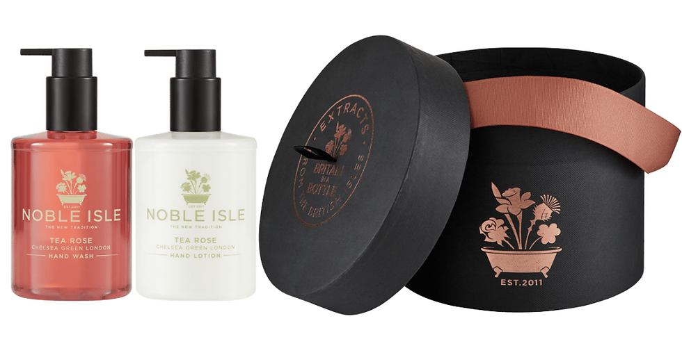 Tea Rose Duo Gift Set from Noble Isle contains Hand Wash and Hand Lotion