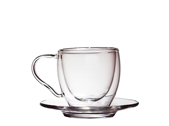 一屋窟 80ml Double Wall Glass Coffee Cup