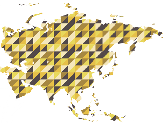 Asian and Pacific Area Map