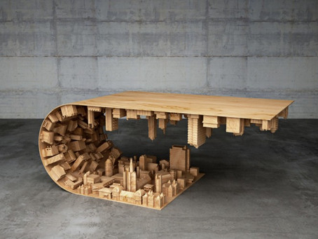 Interesting Wooden Coffee Table