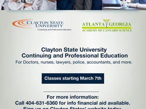 Atlanta Academy of Cannabis Science and Clayton State University Continuing and Professional Ed,