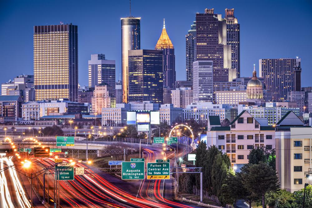 Atlanta-Georgia-USA-twilight-rush-hour