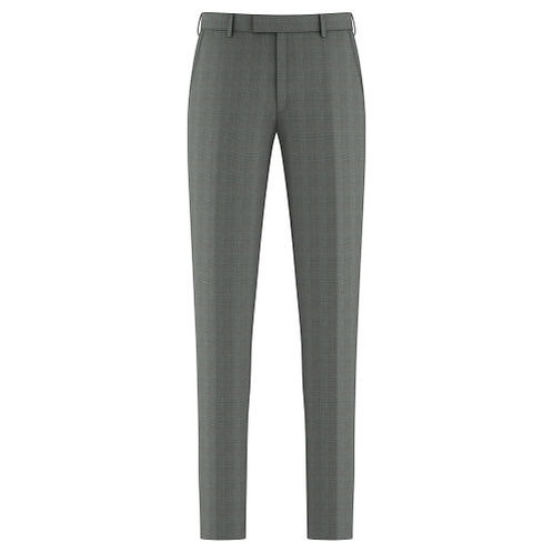 Grey & Red Glen Plaid Trousers