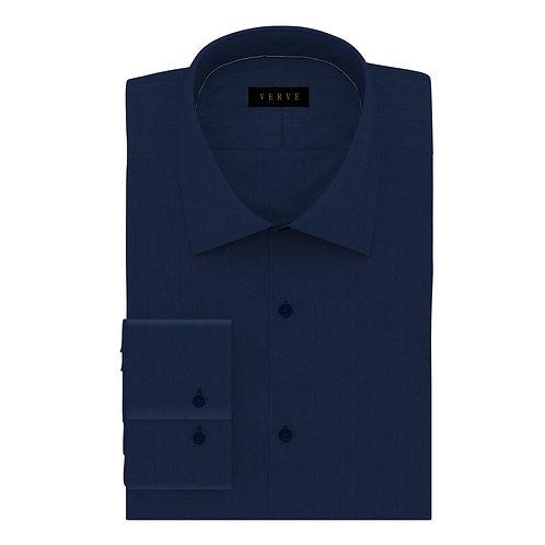 Navy Herringbone Shirt