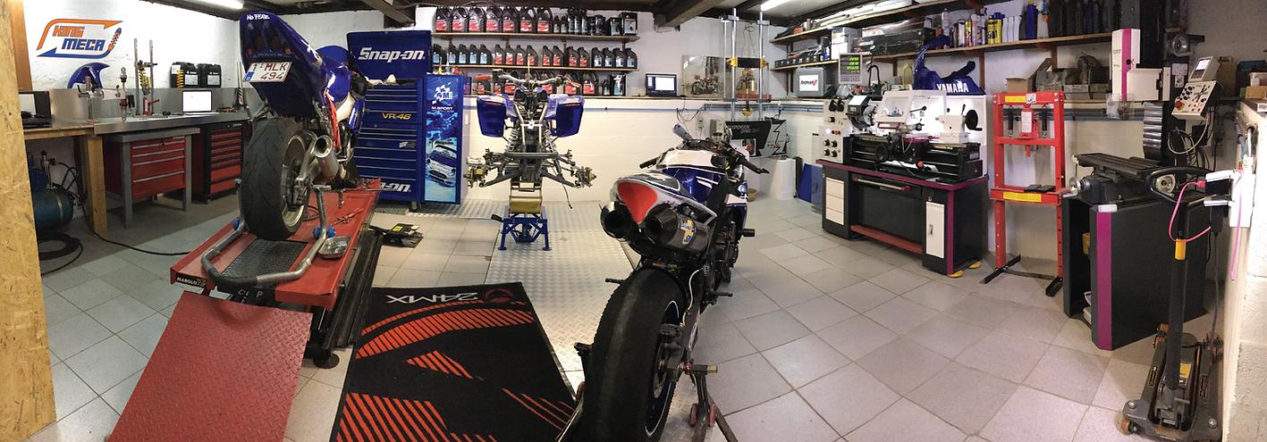 kingmeca atelier préparation suspension moto