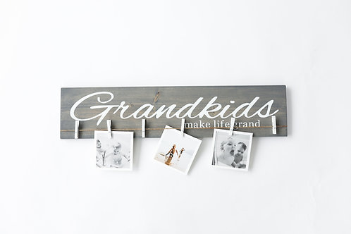 """24"""" Grandkids Make Life Grand Display Cursive"""