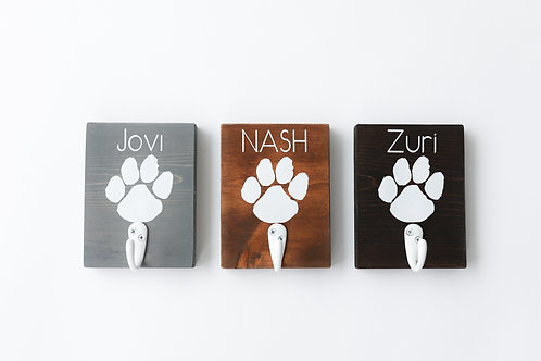 Paw Hook Pet Leash Holder with Name