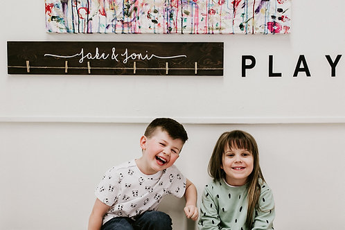 """36"""" Kid's Art Display Sign Name Only"""
