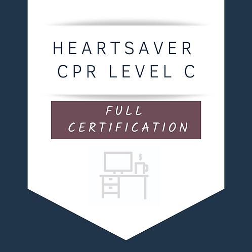 HeartSaver (Level C) CPR Full Certification