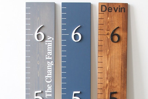 3D Growth Chart with Painted Wording