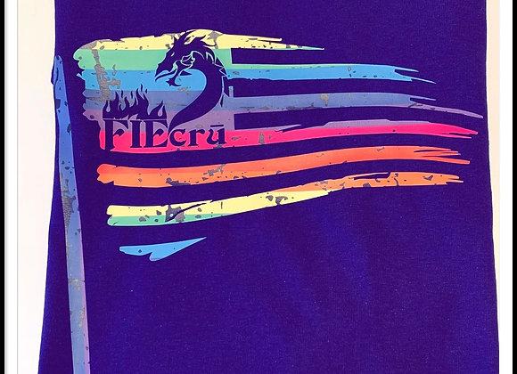 crū Distressed Rainbow Flag Tee