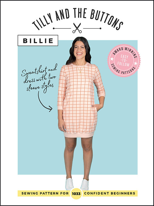 Billie Sweater Dress Tilly & The Buttons PATTERN