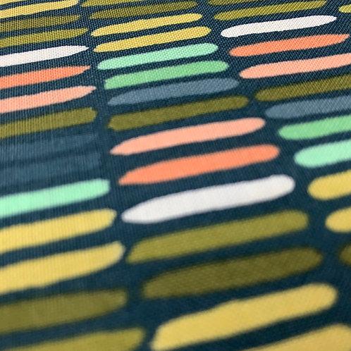 Golden Rod Paintbrush Navy Fabric