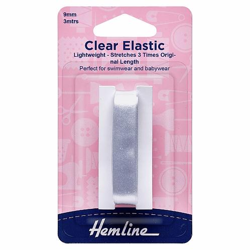 9mm Clear Elastic 3m pk