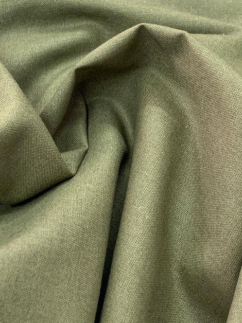 Dark Khaki Green 100% Plain Cotton Fabric