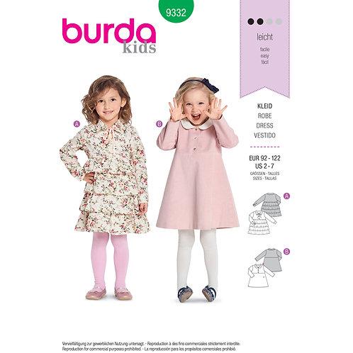 Burda Style B9332 Children's Dresses