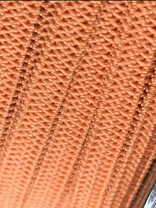 5mm Burnt Orange Ribbon Elastic by the metre