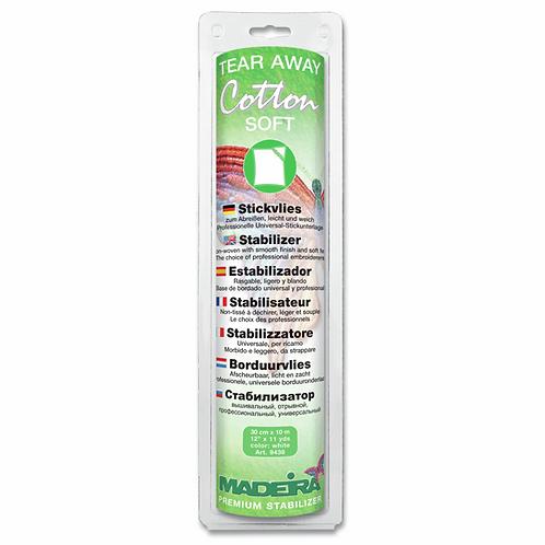 Stabiliser Tear-Away COTTON SOFT White