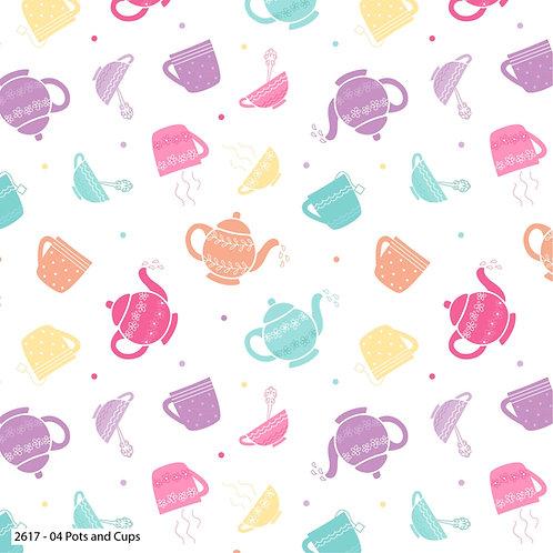 Tea Party 100% Cotton Fabric