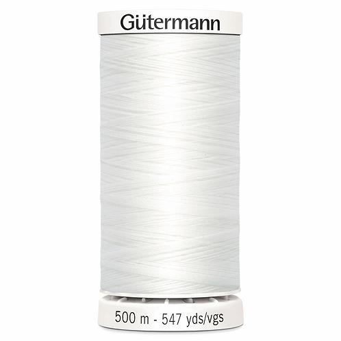 WHITE Sew All Thread 500m