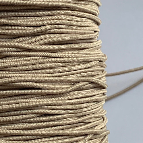 1mm Beige/Nude Millinery Cord Elastic by the metre