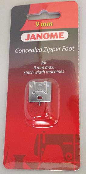 Concealed Zipper Foot for Janome Sewing Machine