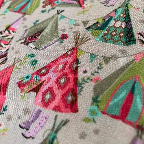 Wig-Wam Tee-Pee Tent Festival 100% Cotton Fabric