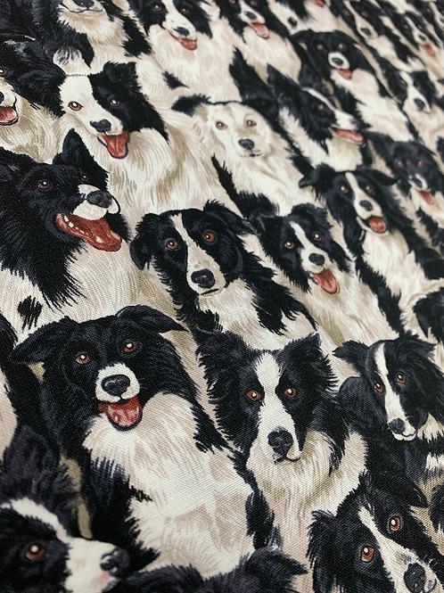Collie Dog 100% Cotton Fabric