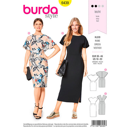 6439 Figure-Fitting Dress Burda Pattern