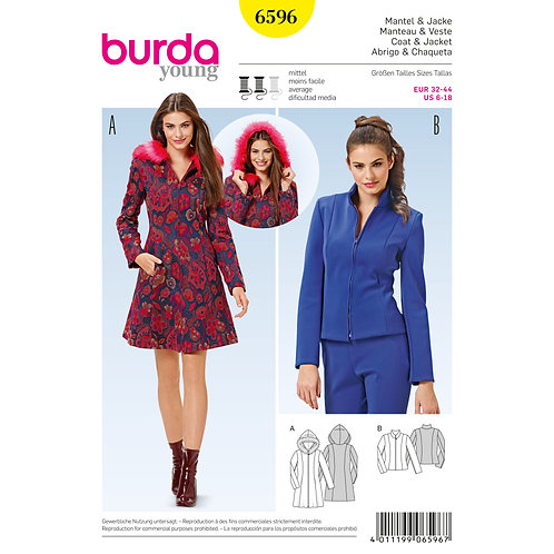 6596 Coat Jacket Burda Pattern