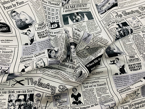 Sew Newsprint Fabric