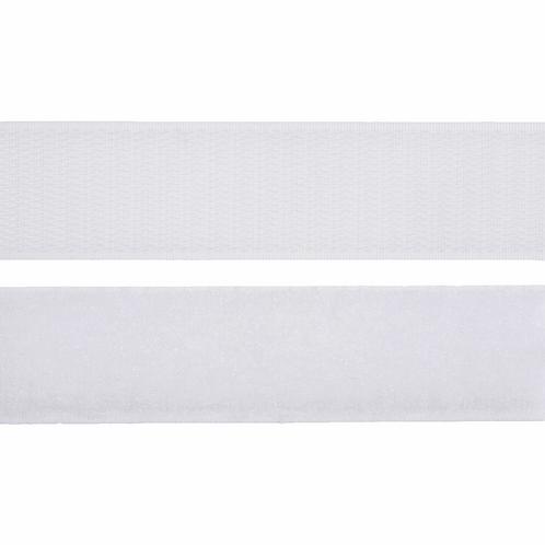 30mm Sew on Velcro Tape WHITE