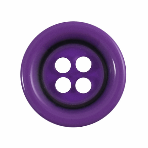 11.25mm Purple 4 hole Button